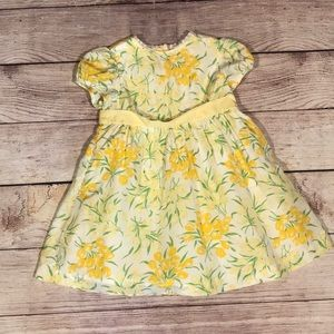 Janie and jack yellow dress 12 - 18 months
